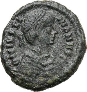 obverse: Justinian I (527-565).. AE Decanummium. Ravenna mint. Ravenna mint. Struck 540-547