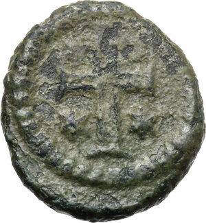 reverse: Justinian I (527-565).. AE Decanummium. Ravenna mint. Ravenna mint. Struck 540-547
