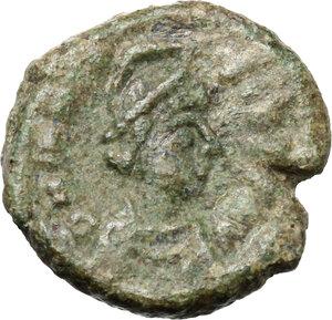 obverse: Maurice Tiberius (582-602).. AE Decanummium. Ravenna mint. Struck 586-602