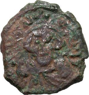 obverse: Constans II (641-668).. AE Half Follis. Ravenna mint. Dated RY 5 (645/6)