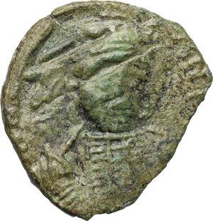 obverse: Constantine IV (668-685).. AE Follis, Ravenna mint