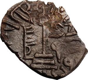 reverse: Syria.  Umayyad Caliphate.  Abd al-Malik ibn Marwan. AE Fals. Quinnasrin, AH 65-86/AD 685-705