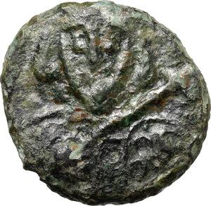 obverse: Tiberius III (698-705).. AE Follis, Ravenna mint