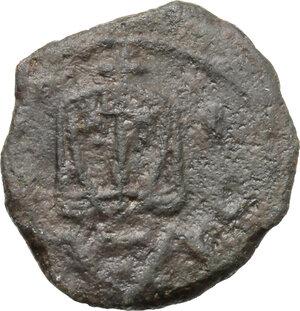 obverse: Leo V with Constantine (813-820).. AE Follis. Syracuse mint