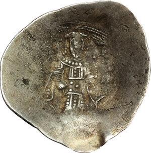 reverse: Alexius III Angelus Comnenus (1195-1203). EL Aspron Trachy. Constantinople mint