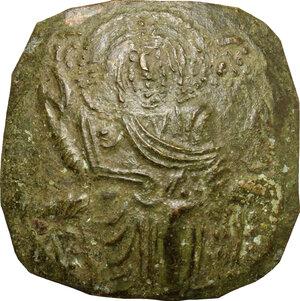 obverse: John III Ducas (1222-1254).. Debased AV Hyperpyron, Empire of Nicaea, Magnesia mint, 1232-1254