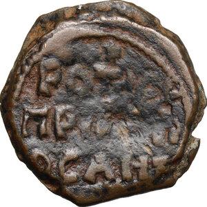 reverse: Roger of Salerno (1112-1119), regent.. AE Follis, Third type. Antioch mint