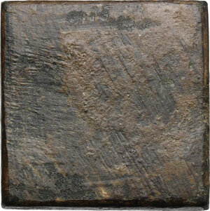 reverse: AE Square-shaped commercial weight for 2 ounce, 4-6 century AD