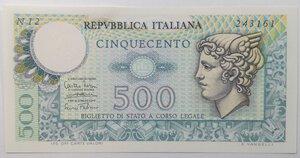 obverse: Banconote. Repubblica Italiana. 500 lire Mercurio.