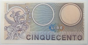 reverse: Banconote. Repubblica Italiana. 500 lire Mercurio.
