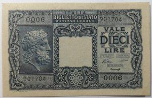 obverse: Banconote. Repubblica Italiana. 10 lire Giove.