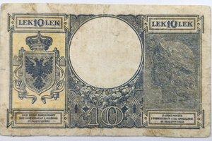 reverse: Banconote. Albania. Occupazione Italiana. 10 lek 1941.