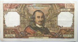obverse: Banconote. Francia. 100 Franchi Corneille 1967.