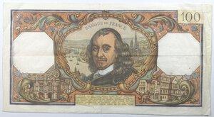 reverse: Banconote. Francia. 100 Franchi Corneille 1967.