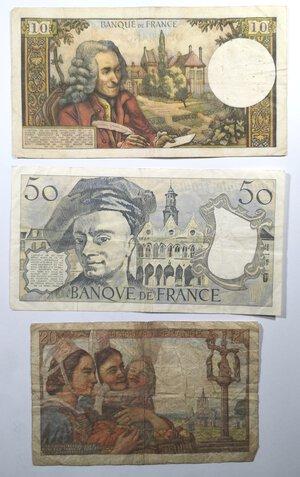 reverse: Banconote. Francia. Lotto di 3 pezzi. 10-20-50 Franchi.