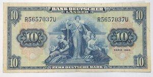 obverse: Banconote. Germania. 10 Marchi 1949.