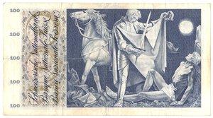 reverse: Banconote. Svizzera. 100 Franchi. 10 Febbraio 1971.