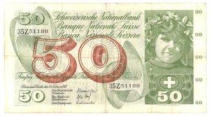 obverse: Banconote. Svizzera. 50 Franchi. 7 Febbraio 1974.