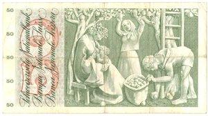 reverse: Banconote. Svizzera. 50 Franchi. 7 Febbraio 1974.