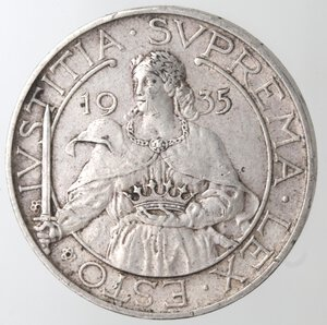 reverse: San Marino. 1864-1938. 10 lire 1935. Ag.