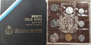 obverse: San Marino. Serie divisionale annuale 1973 Pace.