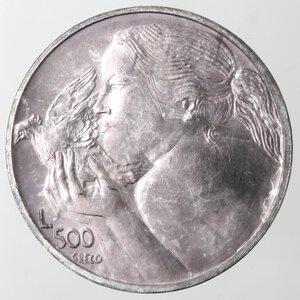 reverse: San Marino. 500 lire 1973. Ag.
