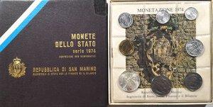 obverse: San Marino. Serie divisionale annuale 1974.