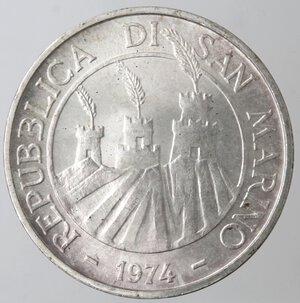obverse: San Marino. 500 lire 1974. Ag.