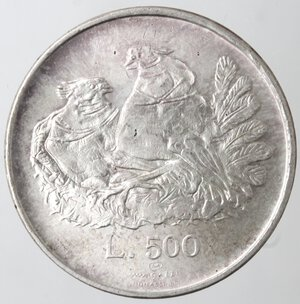 reverse: San Marino. 500 lire 1974. Ag.