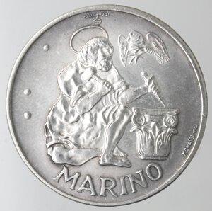 reverse: San Marino. 500 lire 1975 Scalpellino. Ag.