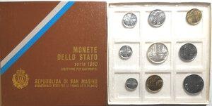 obverse: San Marino. Serie divisionale annuale 1980 XXII Olimpiade.