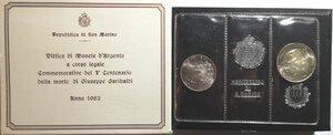 obverse: San Marino. Dittico 500 Lire + 1.000 Lire 1982. Ag. Giuseppe garibaldi.