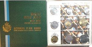 obverse: San Marino. Serie divisionale annuale 1986. L evoluzione tecnologica. Confezione originale.