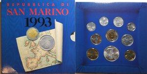 obverse: San Marino. Serie divisionale annuale 1993 16 secoli di storia rivolti al futuro.