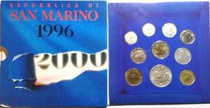 obverse: San Marino. Serie divisionale annuale 1996 L uomo verso il terzo millennio.