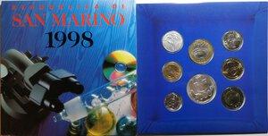 obverse: San Marino. Serie divisionale annuale 1998 L uomo verso il terzo millennio.