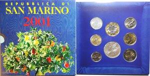 obverse: San Marino. Serie divisionale annuale 2001. 1700° Repubblica di San Marino.