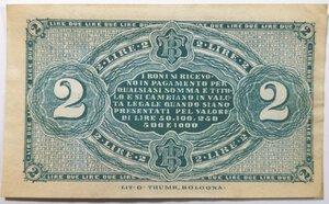 reverse: Banconote. Banca Toscana di Anticipazioni e Sconto. Dante Alighieri. Buono da 2 lire.