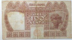 reverse: Banconote. Banco Di Napoli. 100 lire Tasso.