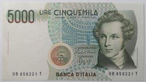 obverse: Banconote. Repubblica Italiana. 5.000 lire Bellini.