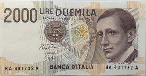 obverse: Banconote. Repubblica Italiana. 2.000 lire Marconi.