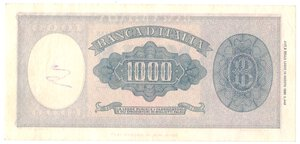 reverse: Banconote. Repubblica Italiana. 1.000 lire Italia Medusa.