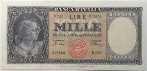 obverse: Banconote. Repubblica Italiana. 1.000 lire Italia Medusa.