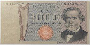 obverse: Banconote. Repubblica Italiana. 1.000 Lire. Verdi  2°tipo.