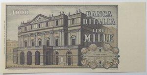 reverse: Banconote. Repubblica Italiana. 1.000 Lire. Verdi  2°tipo.