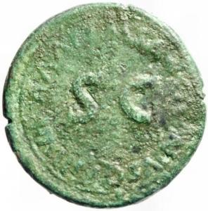 reverse: Impero Romano. Augusto. 27 a.C. 14 d.C. Sesterzio. D/ O B CIVIS SERVATOS su tre righe tra allori . R\ M SANQVINIVS Q F III VIR AAA FF nel campo SC. RIC 370. Peso 22,50 gr. Diametro 35,91 mm. MB. R.Periziato Moruzzi