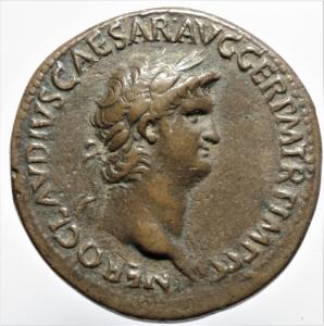 obverse: Impero Romano .Nerone 54-68 d.C. Sesterzio di G.Cavino detto