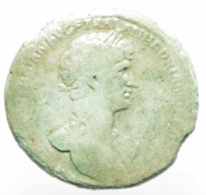 obverse: Impero Romano. Adriano. 117-138 d.C. Sesterzio. AE. Peso 26,95 gr. Diametro 34.00 mm.MB. R.Patina Verde.Ex Numismatica Calaritana.ra