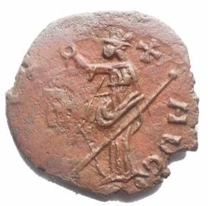 reverse: Monete Barbariche - Bronzetto Imitativo da catalogare. gr 2,62. mm 17,3. Bel ritratto. Patina rossa-marrone
