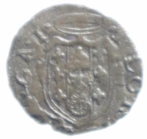 obverse: Zecche Italiane. Castro. Pier Luigi Farnese. 1545-1547. Quattrino.Peso 0,70 gr. MI. qBB